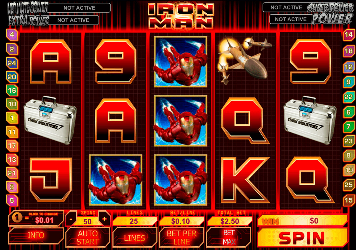 iron man playtech slot machine