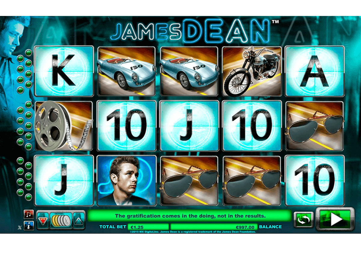 james dean netgen gaming slot machine