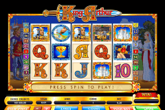 king arthur microgaming slot machine
