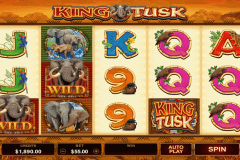 king tusk microgaming slot machine