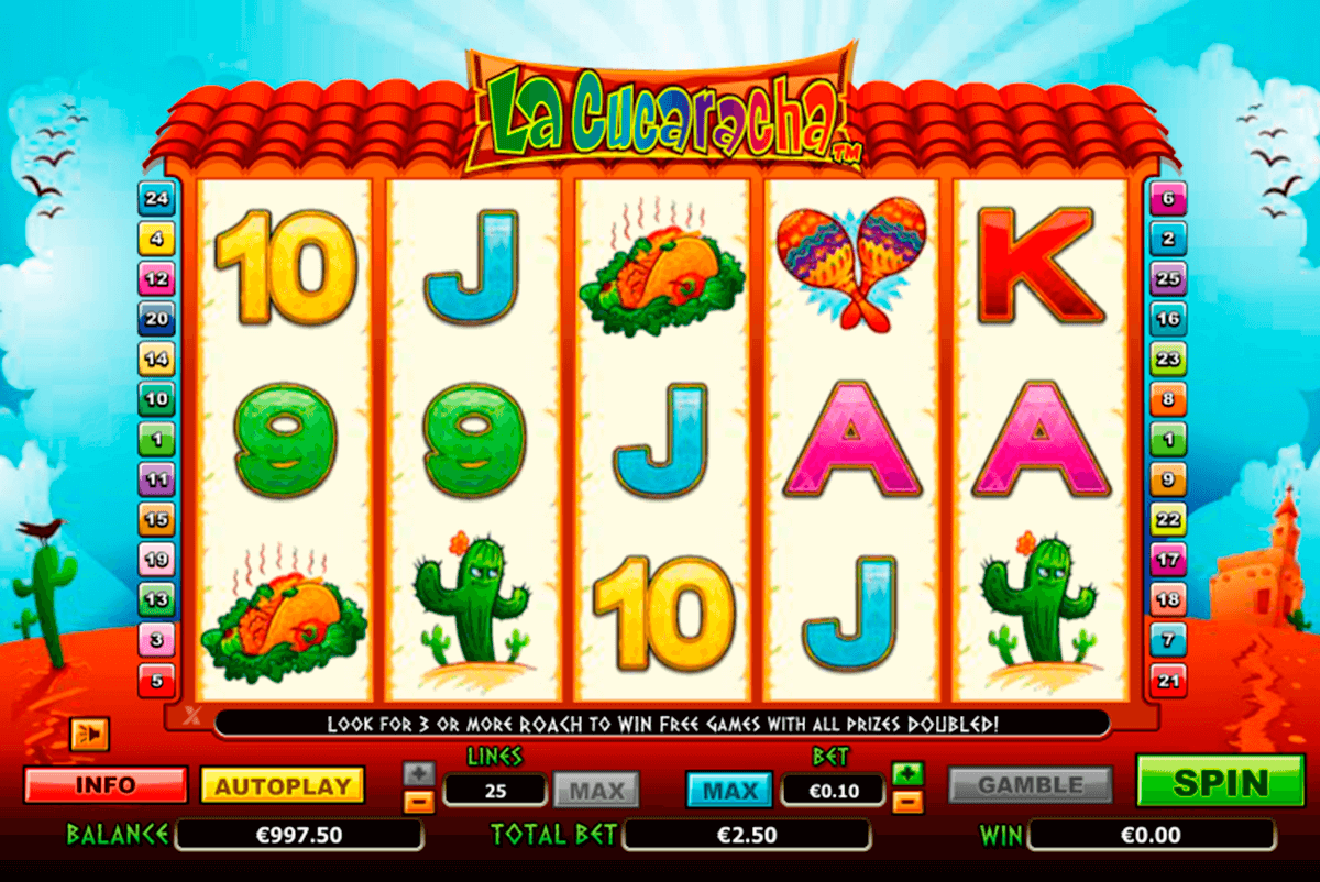 la cucaracha netgen gaming slot machine