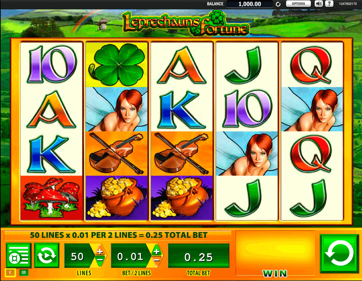 leprechauns fortune wms slot machine
