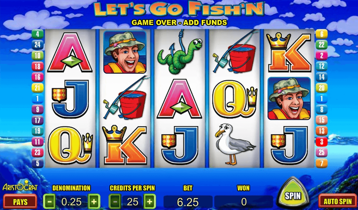 lets go fishn aristocrat slot machine