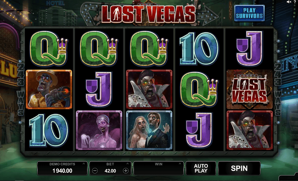 lost vegas microgaming slot machine