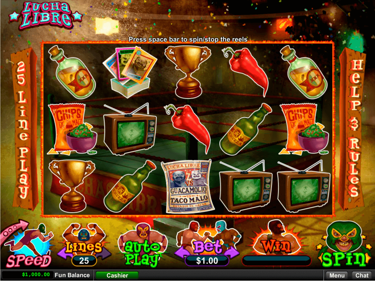 lucha libre rtg slot machine