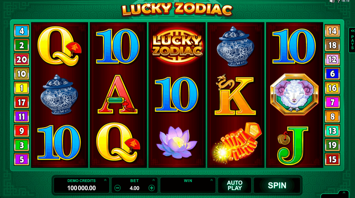 lucky zodiac microgaming slot machine