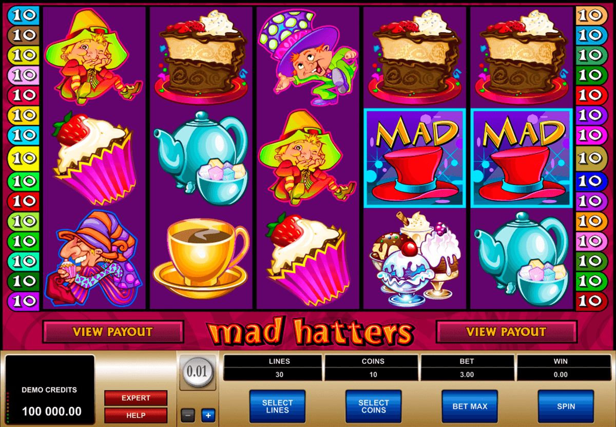 mad hatters microgaming slot machine