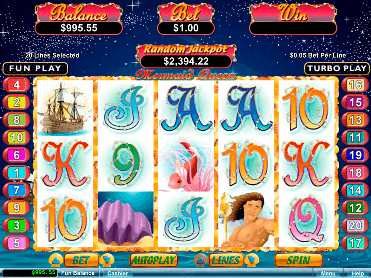 mermaid queen rtg slot machine