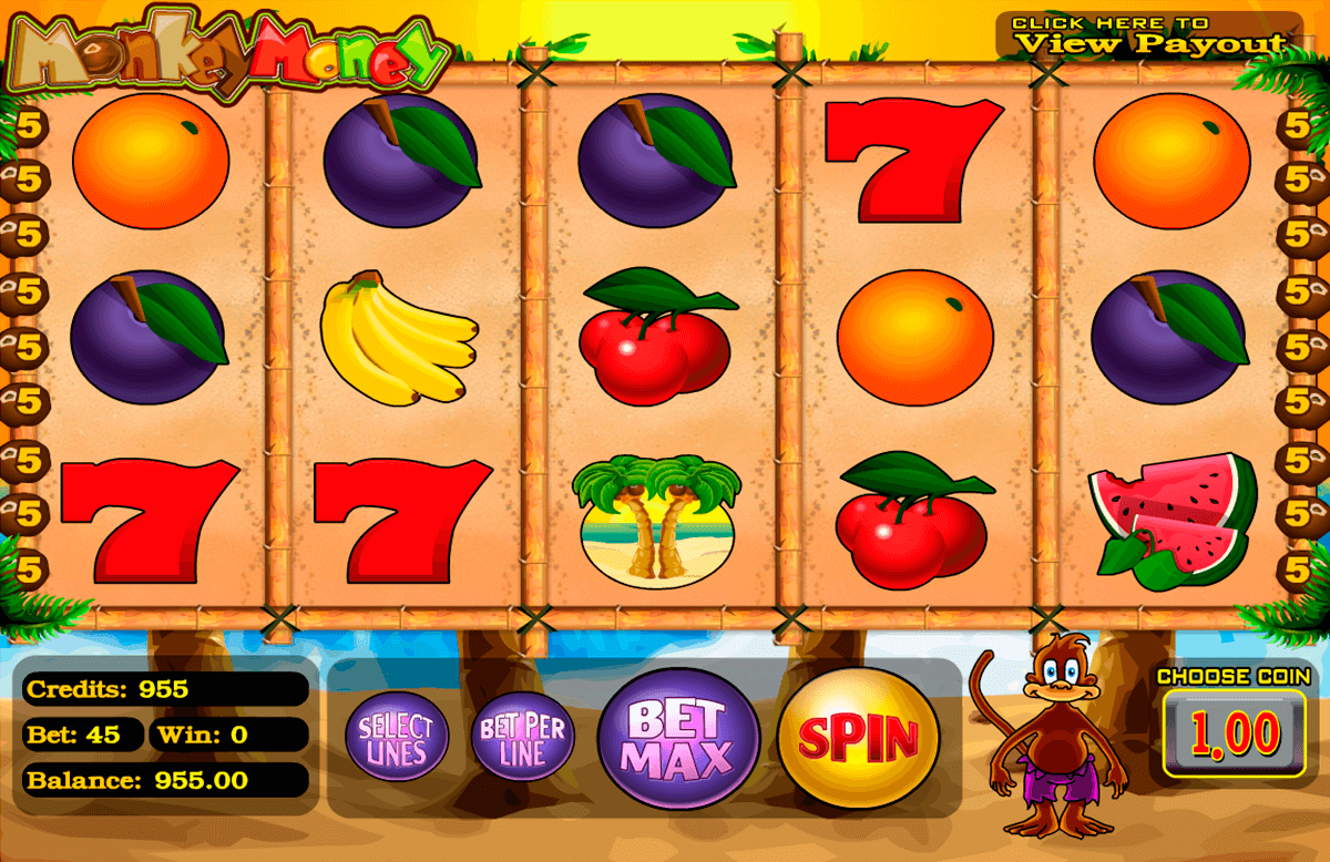 monkey money betsoft slot machine