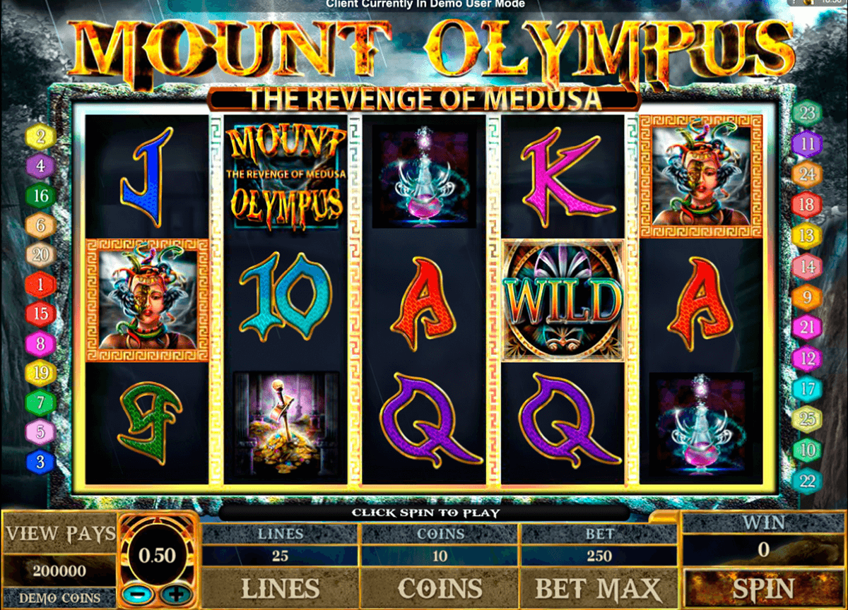 mount olympus microgaming slot machine