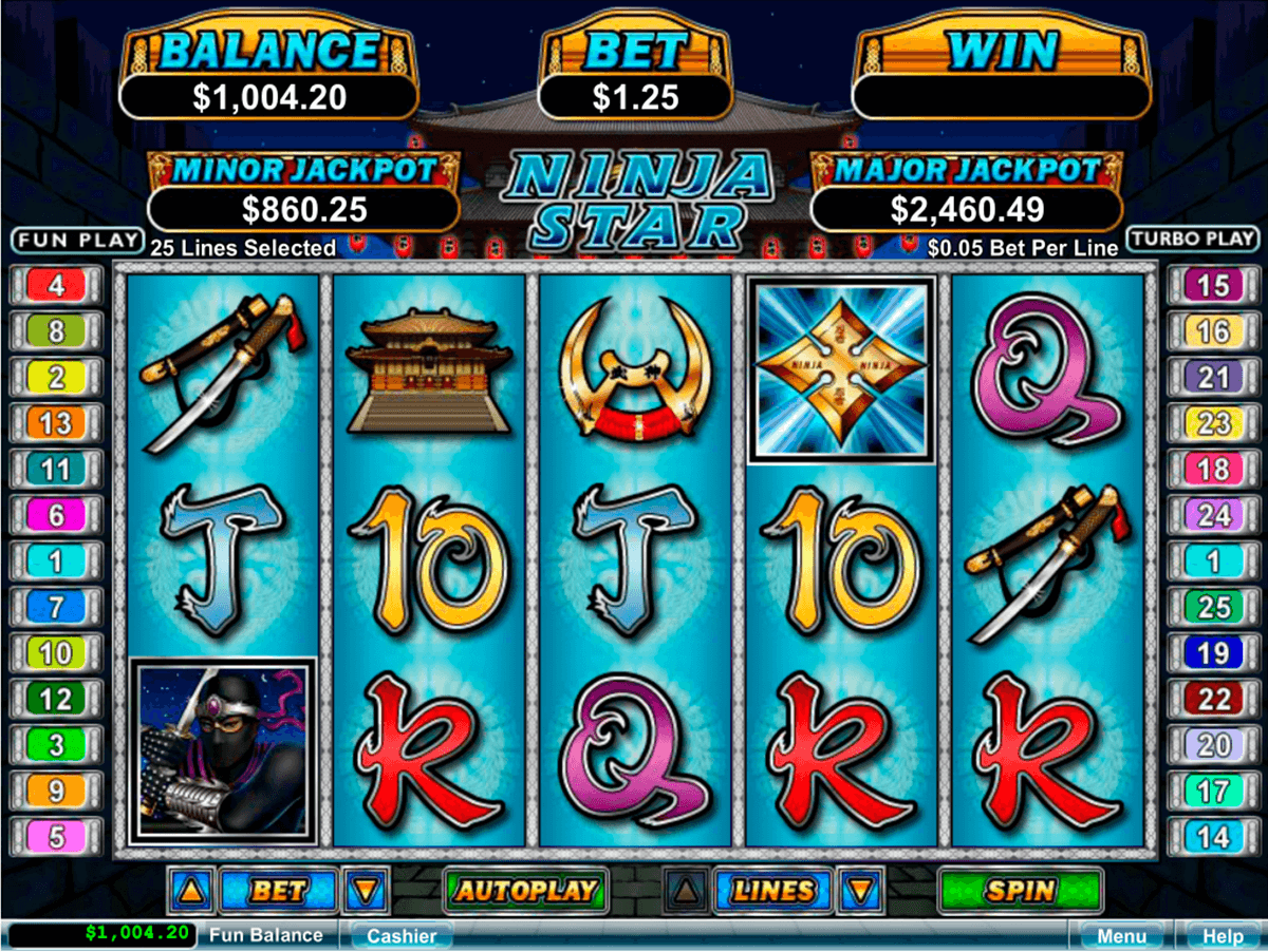 ninja star rtg slot machine