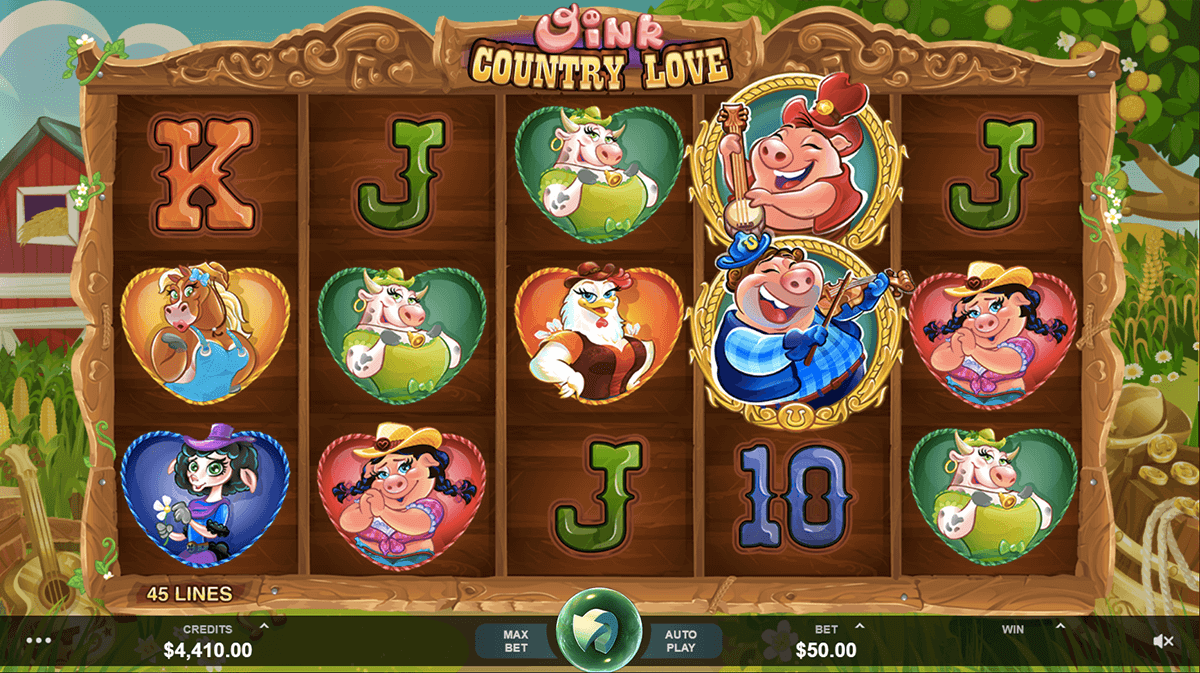 oink country love microgaming slot machine