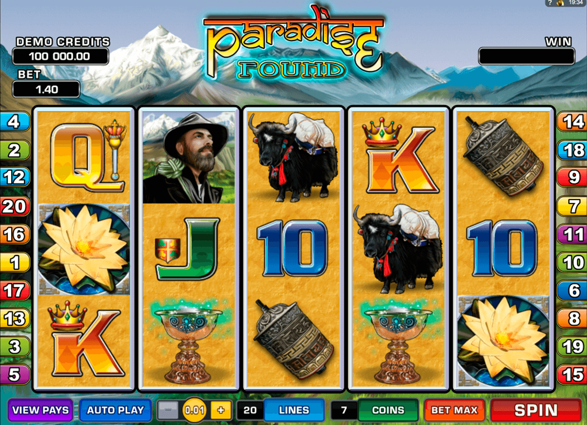 paradise found microgaming slot machine