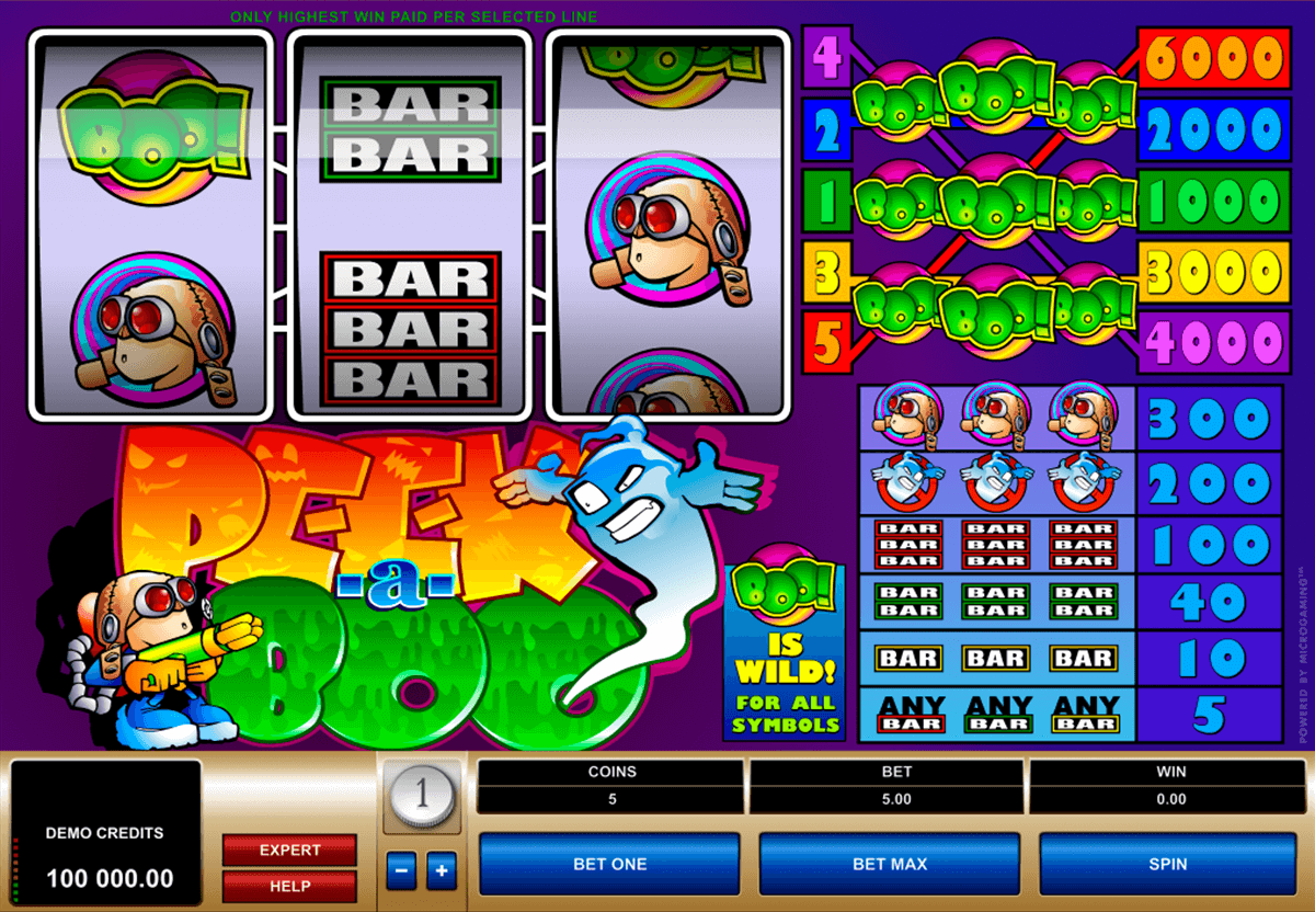 peek a boo microgaming slot machine