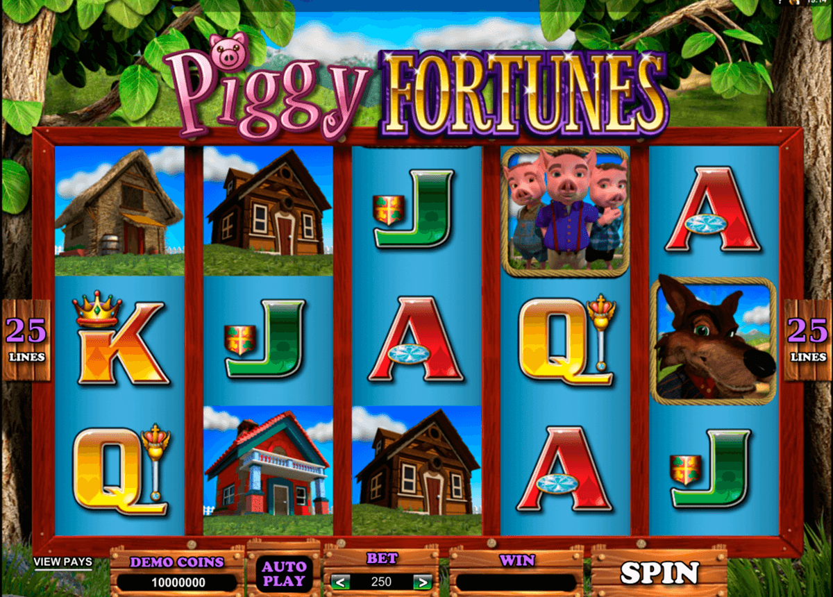 piggy fortunes microgaming slot machine