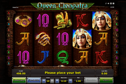 queen cleopatra novomatic slot machine