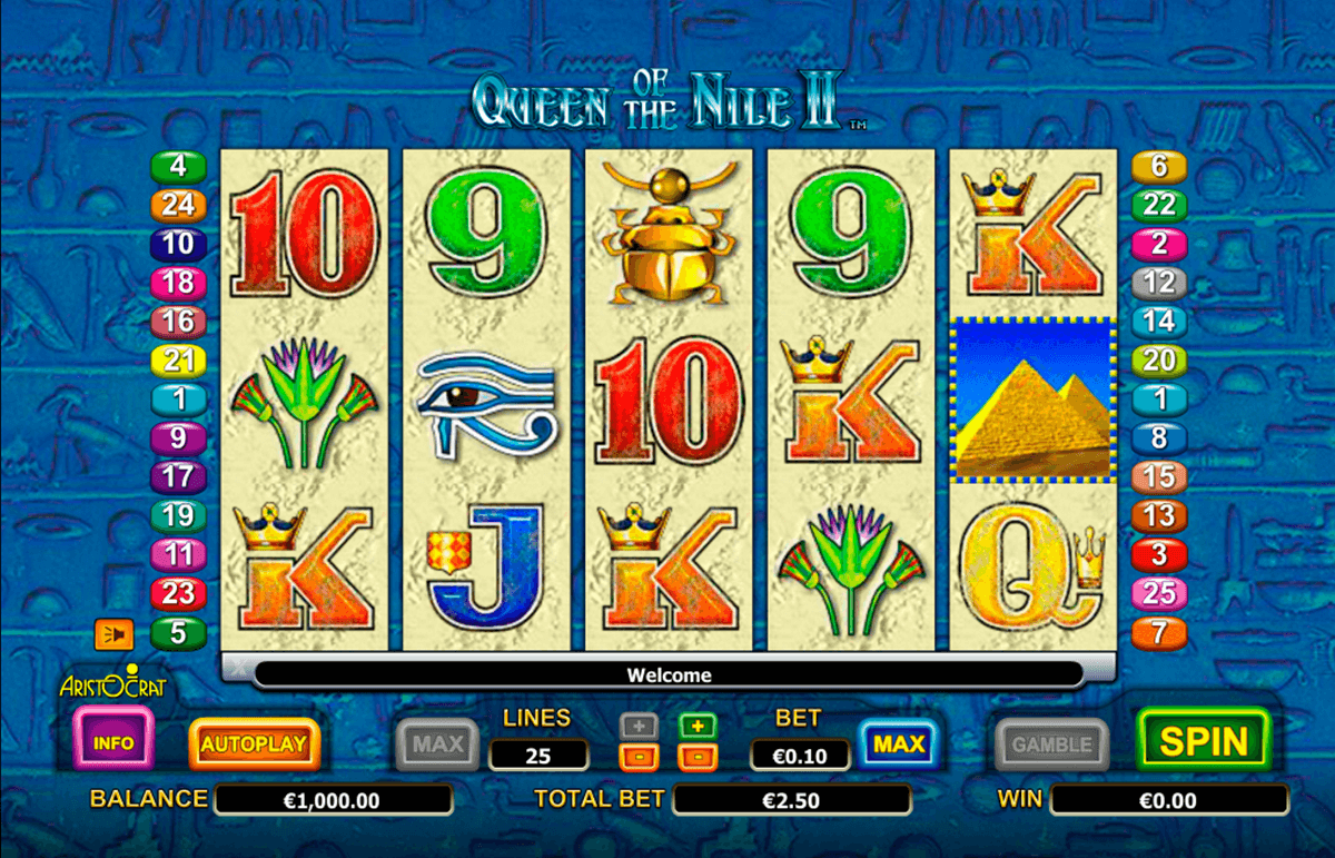 queen of the nile ii aristocrat slot machine