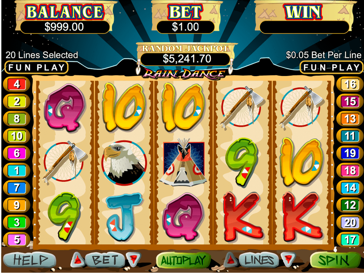 rain dance rtg slot machine
