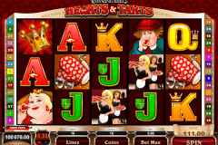 rhyming reels hearts and tarts microgaming slot machine