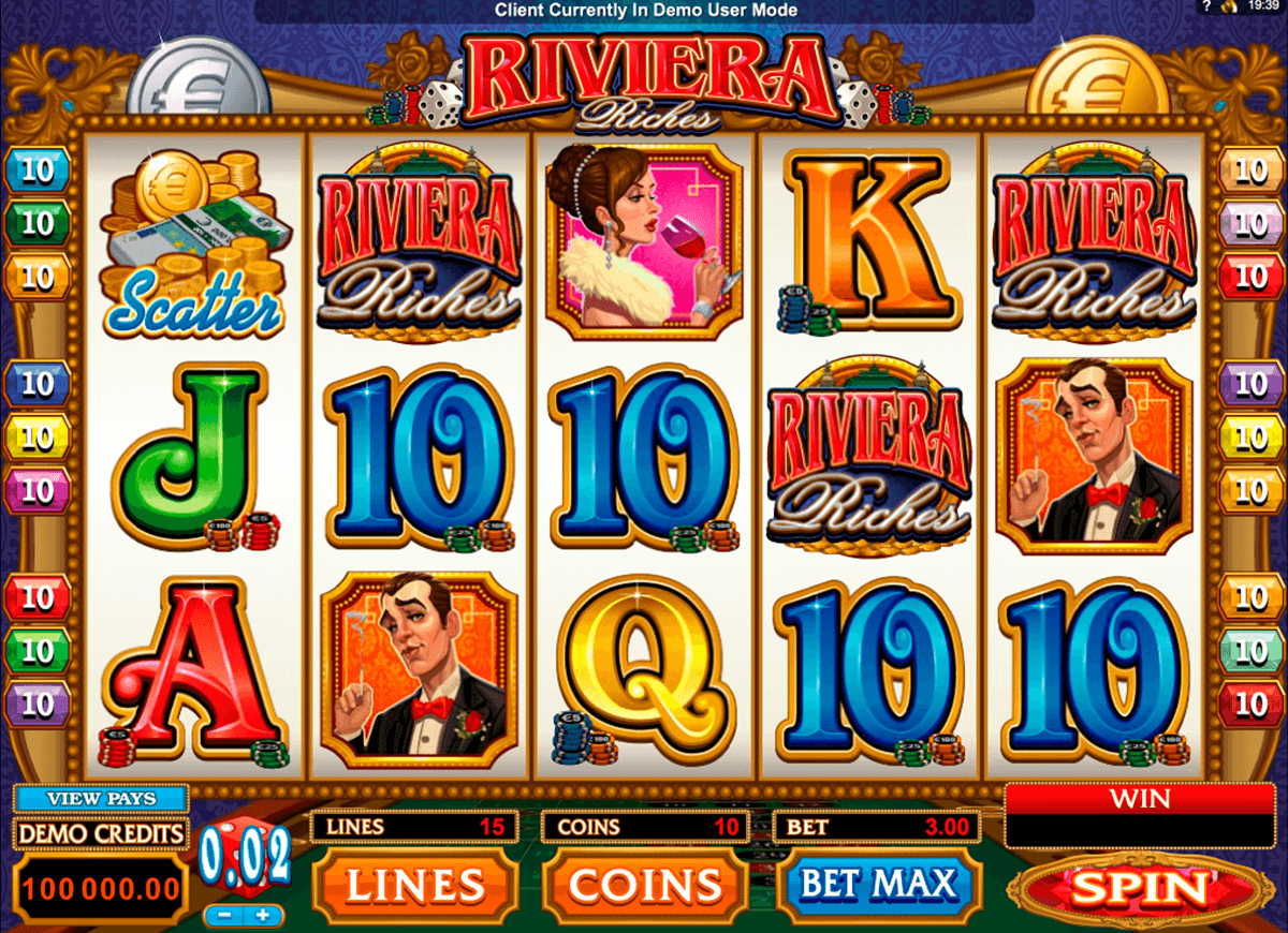 riviera riches microgaming slot machine