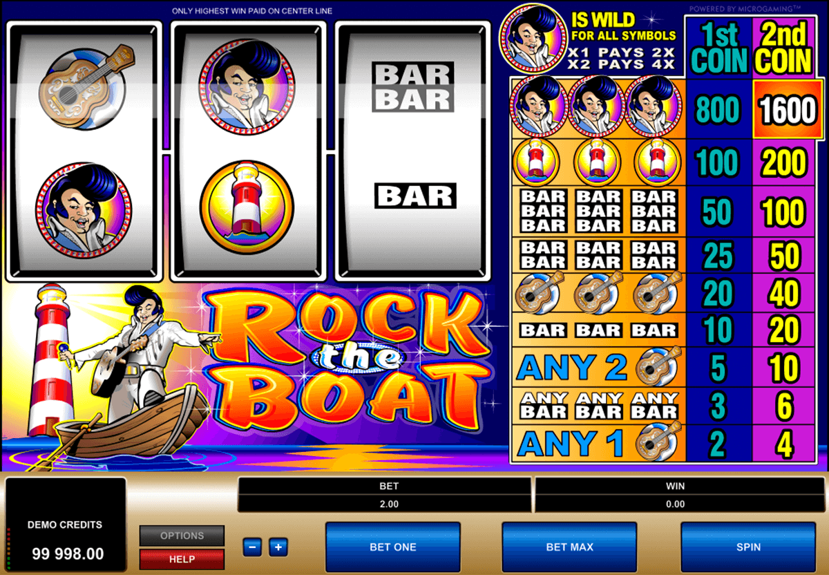 rock the boat microgaming slot machine