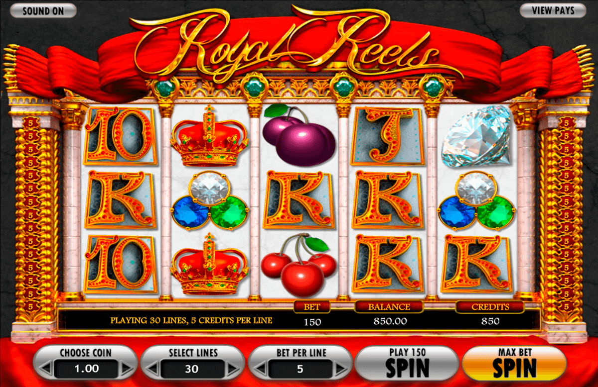 Royal Reels Slot Machine For Sale