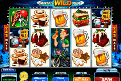 santas wild ride microgaming slot machine