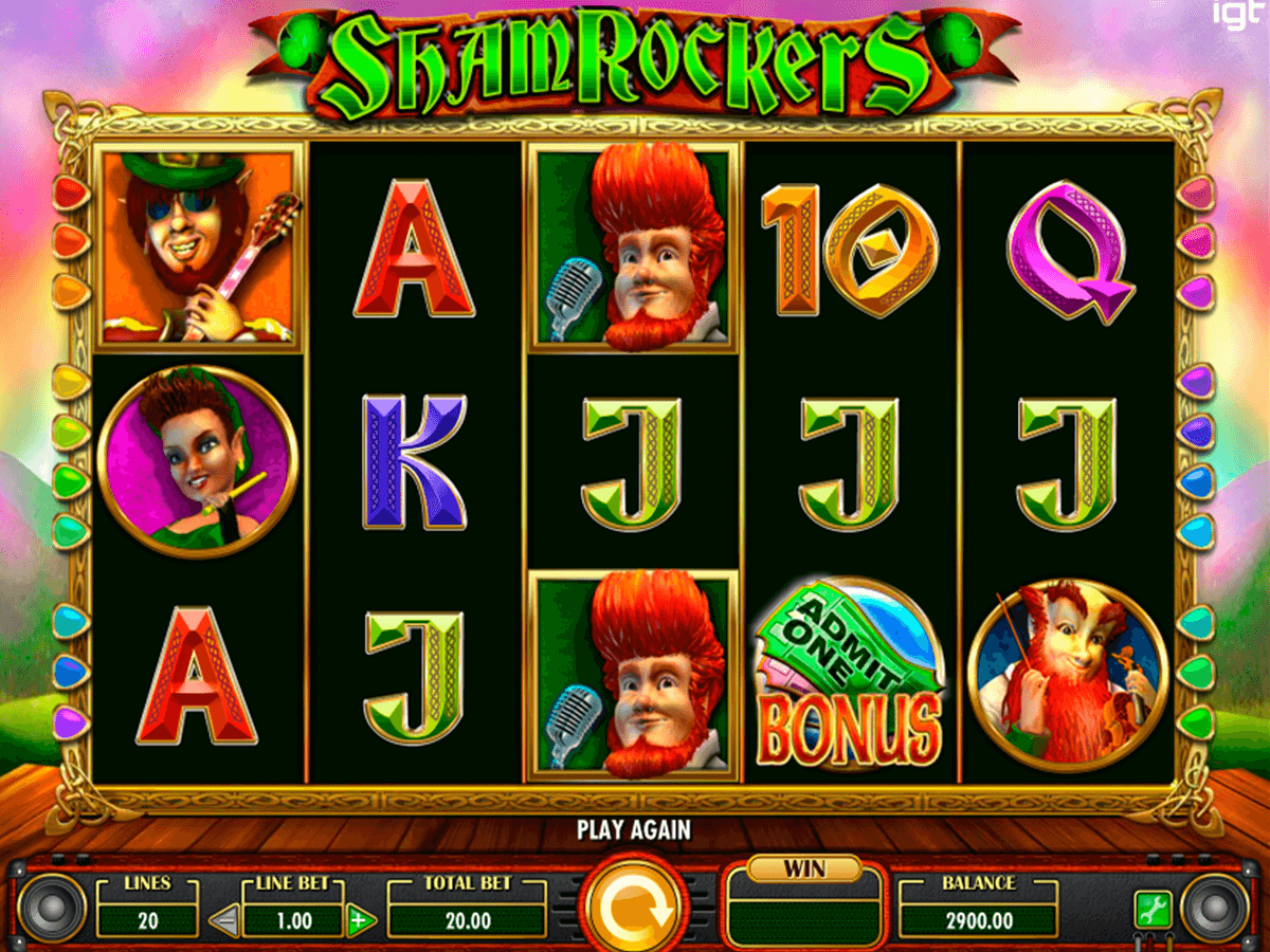 Shamrockers Slot Machine UK Play Free Games Online £500