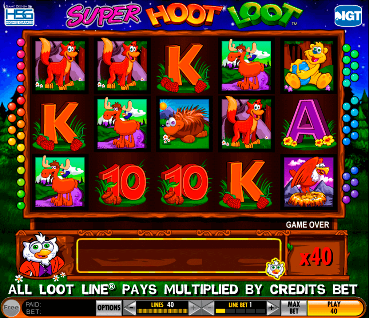 super hoot loot igt slot machine