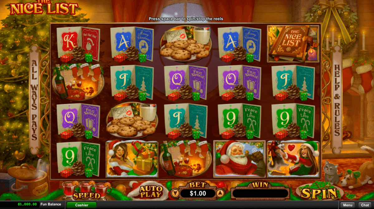 the nice list rtg slot machine
