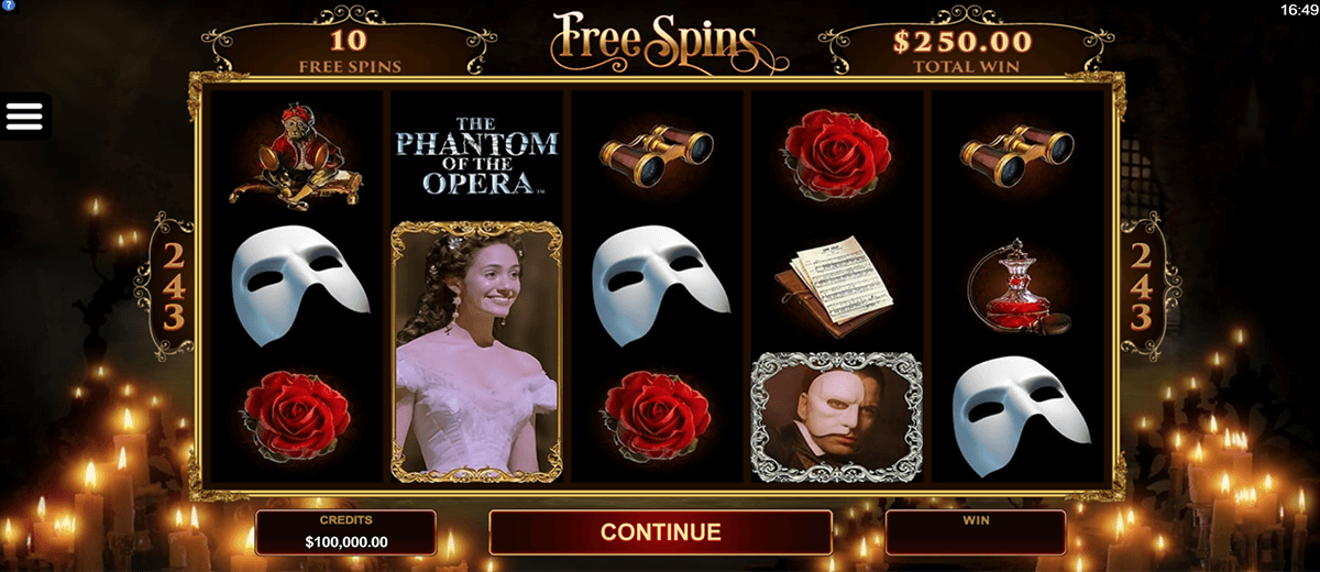the phantom of the opera microgaming slot machine