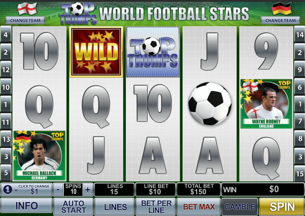 Play Top Trumps World Football Stars Online Slot at Casino.com UK