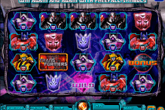 transformers battle for cybertron igt slot machine