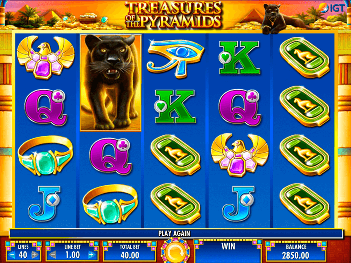 treasures of the pyramids igt slot machine