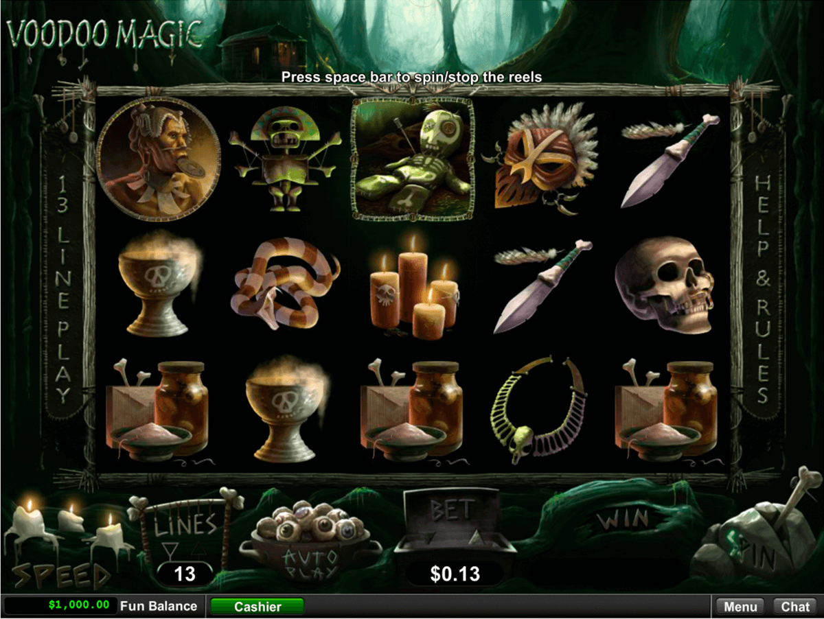 voodoo magic rtg slot machine