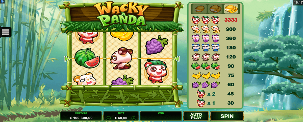 wacky panda microgaming slot machine