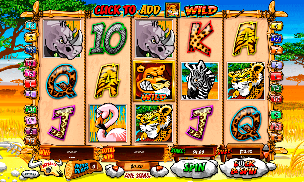 wild gambler playtech slot machine