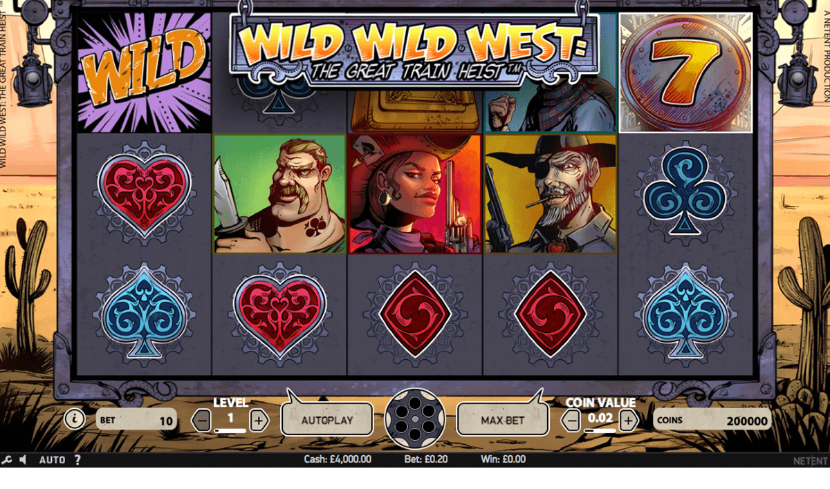 wild wild west the great train heist netent slot machine