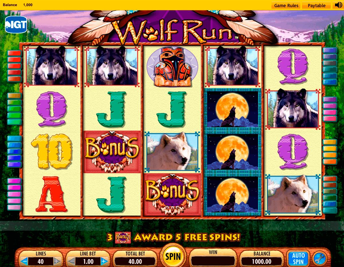 Wolf Run Casino Game