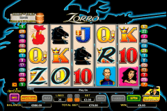 zorro aristocrat slot machine
